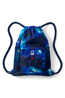 Kids' Packable Print Drawstring Bag