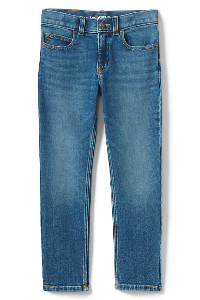 Boys Iron Knee Stretch Slim Fit Jeans, Front