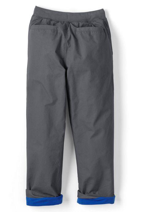 Boys Lined Iron Knee Pull on Pants