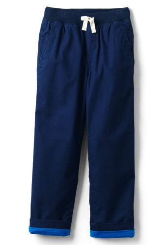 Little Boys' Iron Knees Jersey-lined Pull-on Trousers