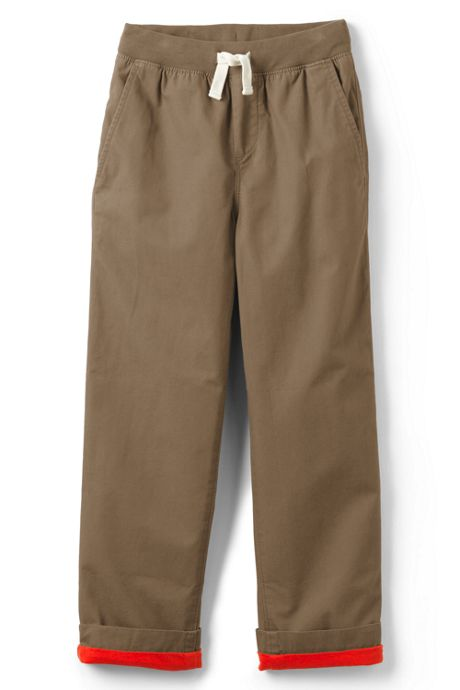 Little Boys Lined Iron Knee Pull on Pants