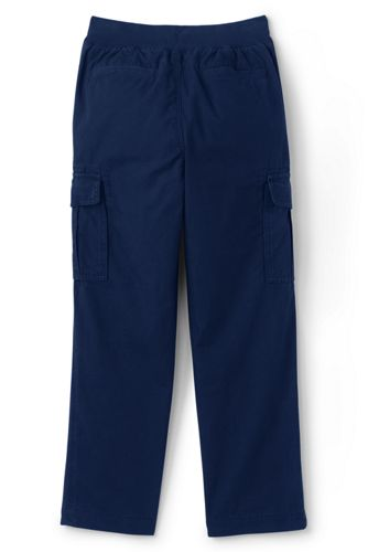 Boys Slim Iron Knee Pull On Cargo Pants