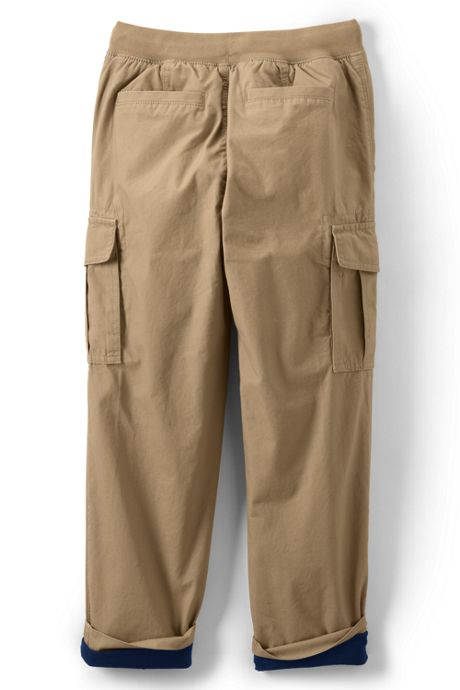 Boys Slim Lined Iron Knee Pull on Cargo Pants
