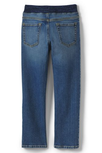 Boys Slim Iron Knee Stretch Pull On Jeans