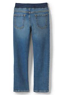 WIYOSHY Boys Denim Jean Shorts Elastic Waist Pull On Knee Length Five Pockets