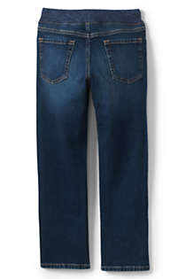 Boys Slim Iron Knee Stretch Pull On Jeans, Back
