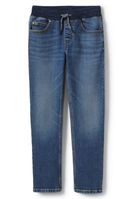 Boys Iron Knee Stretch Pull on Jeans