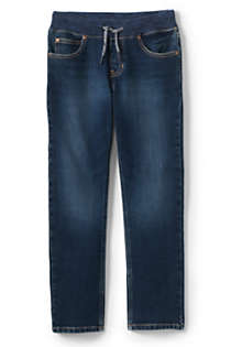 Boys Slim Iron Knee Stretch Pull On Jeans, Front