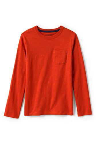 Boys' Long Sleeve T-shirt with Pocket