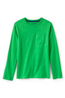 Boys' Long Sleeve Pocket T-shirt