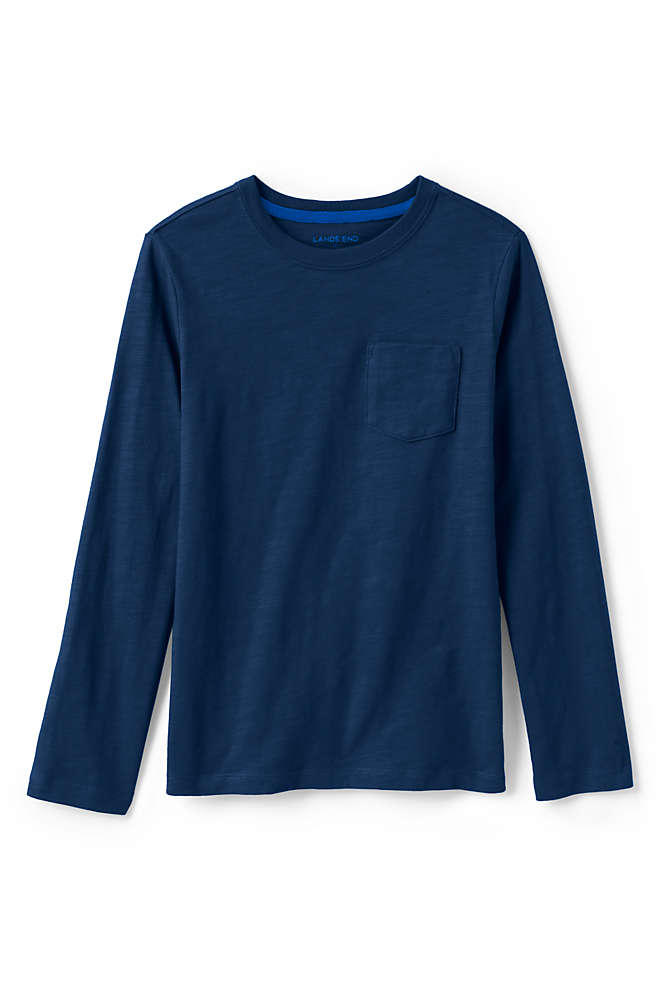 Little Boys Slub Knit Tee Shirt, Front
