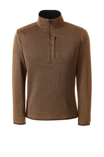 Men's Quarter Zip Sweater Fleece by Lands' End