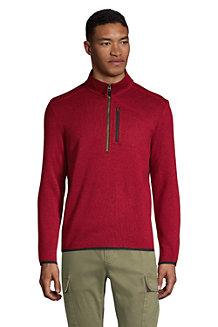 Men's Half Zip Sweater Fleece Top