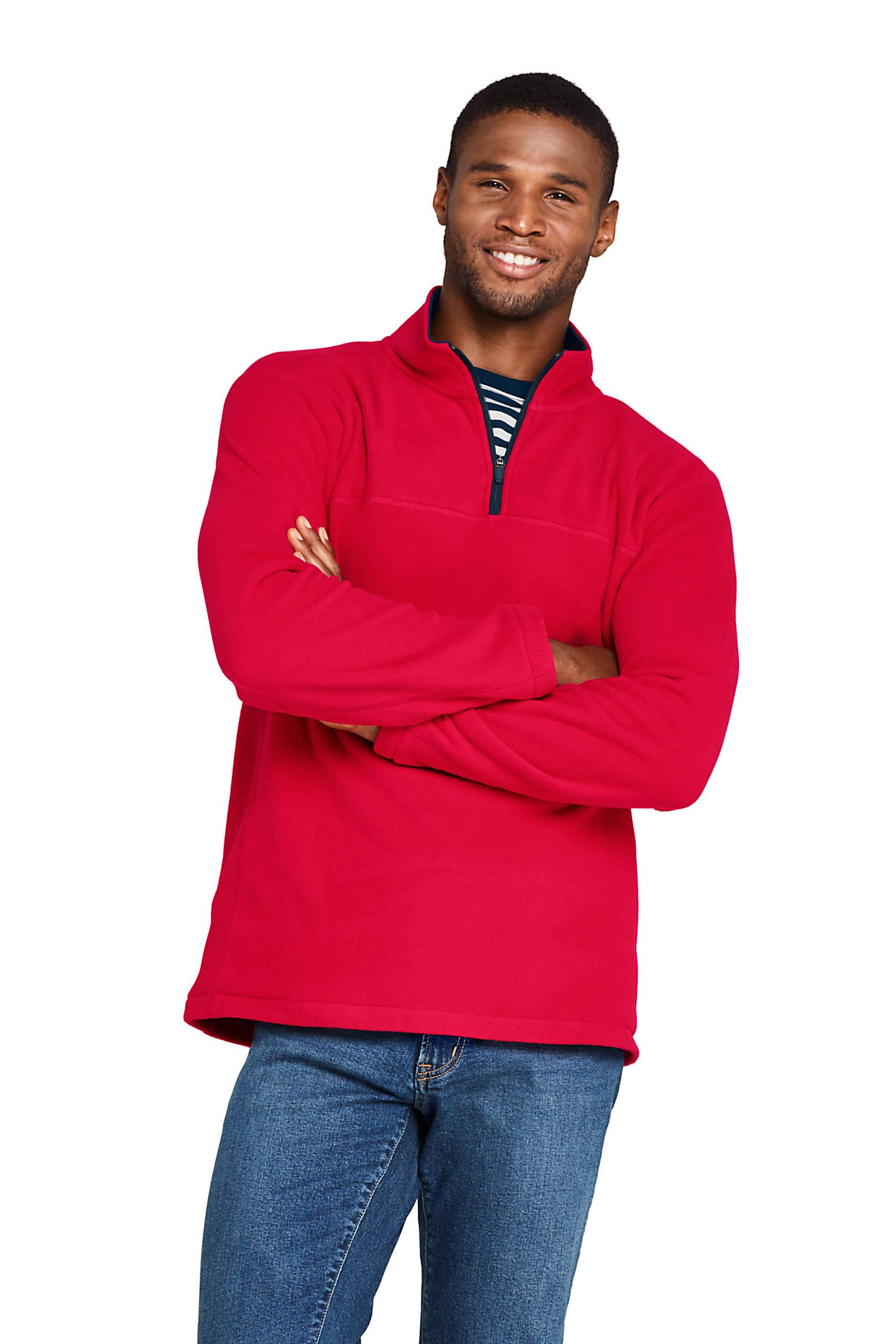 Lands' End Men's Fleece Quarter-Zip Pullover