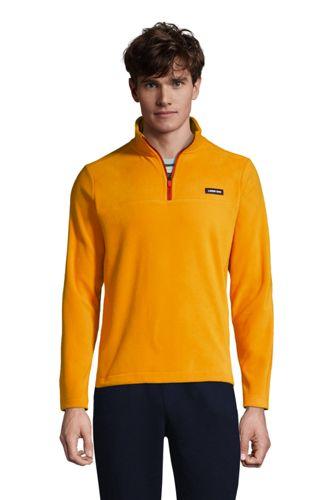 Lands End Men's Fleece Quarter Zip Pullover Top