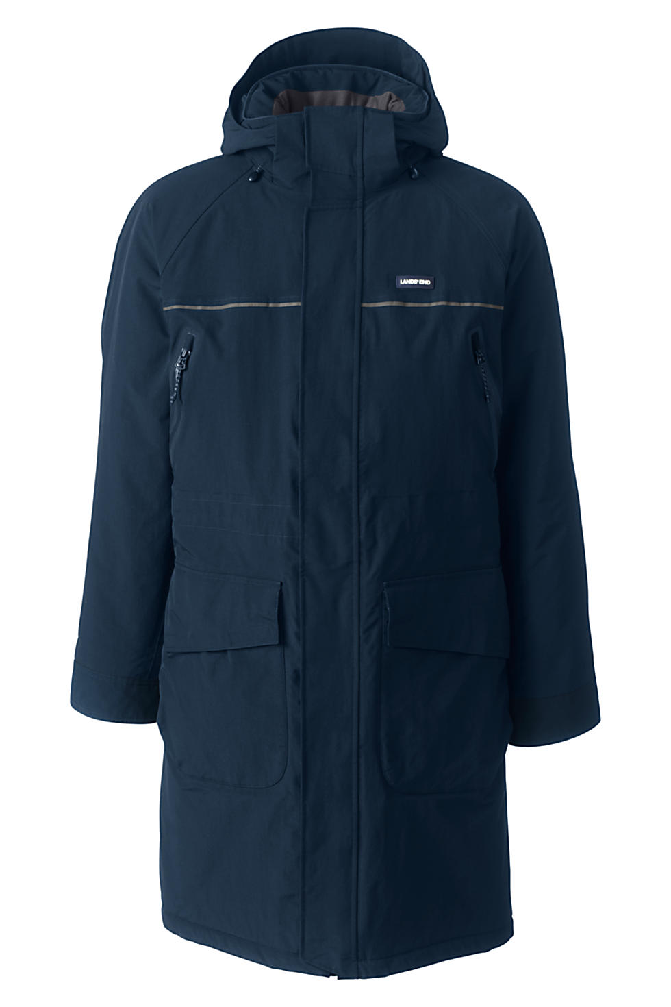 Lands End Mens Waterproof Squall Stadium Long Coat