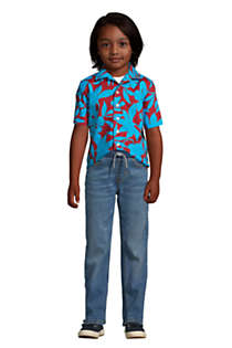 Boys Slim Iron Knee Stretch Pull On Jeans, alternative image