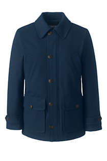 Men's Wool Car Coat, Front
