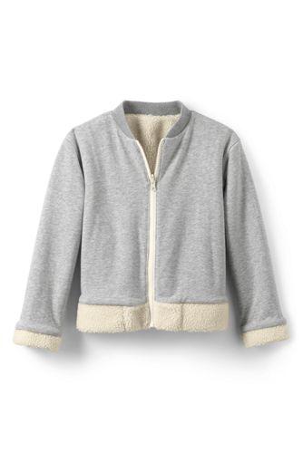 Girls' Reversible Sherpa Fleece Bomber Jacket