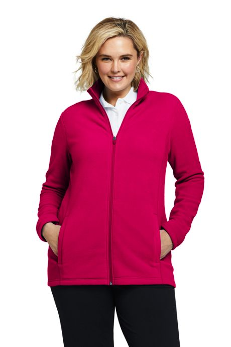 Women's Plus Size Full Zip Fleece Jacket