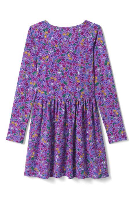 Girls Plus Size Ruffle Front Knit Dress
