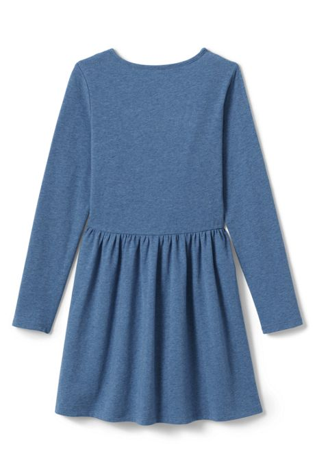 Girls Plus Size Ruffle Front Knit Dress