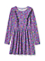 Little Girls' Ruffle Front Knit Dress