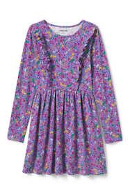 Girls Ruffle Front Knit Dress