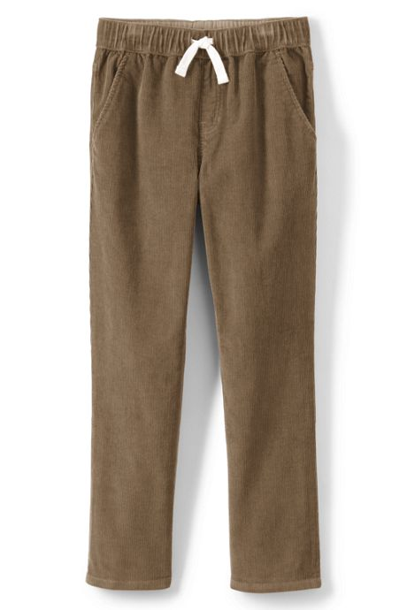 School Uniform Boys Husky Pull On Corduroy Pants