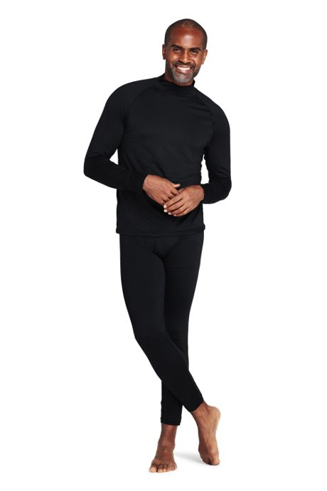 Men's Stretch Thermaskin Long Underwear Mock Neck Base Layer