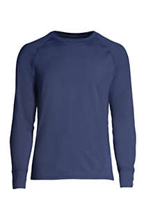 Lands End Boys Thermal Base Layer Long Underwear Thermaskin Crew Neck Shirt