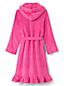 La Robe de Chambre Capuche en Polaire Unie à Volants, Fille