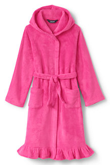 Girls' Ruffle Hem Fleece Robe