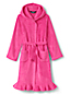Girls' Ruffle Hem Fleece Robe