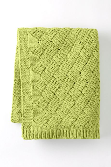 Chenille Lattice Throw Blanket