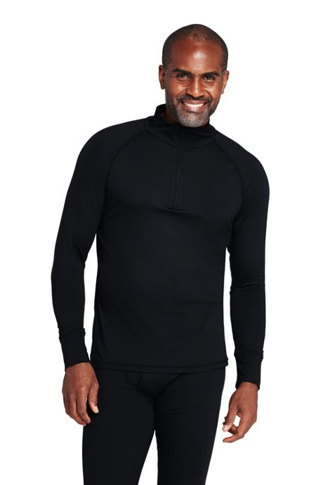Men's Tall Stretch Thermaskin Long Underwear Quarter Zip Base Layer