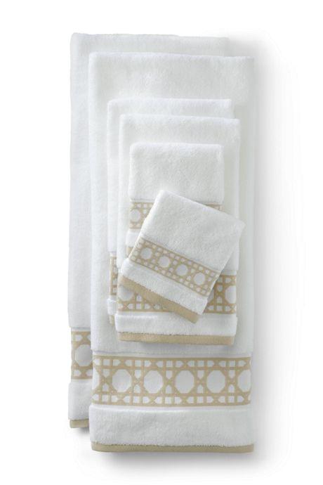 Supima Cane Weave Jacquard Border Towel