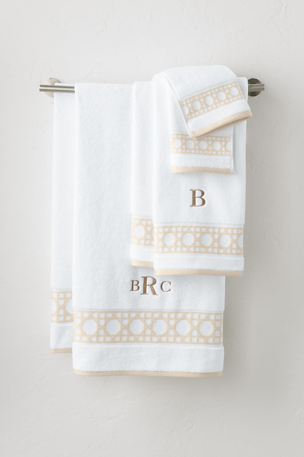 Lands' End Supima Cane Weave Jacquard Border Towel