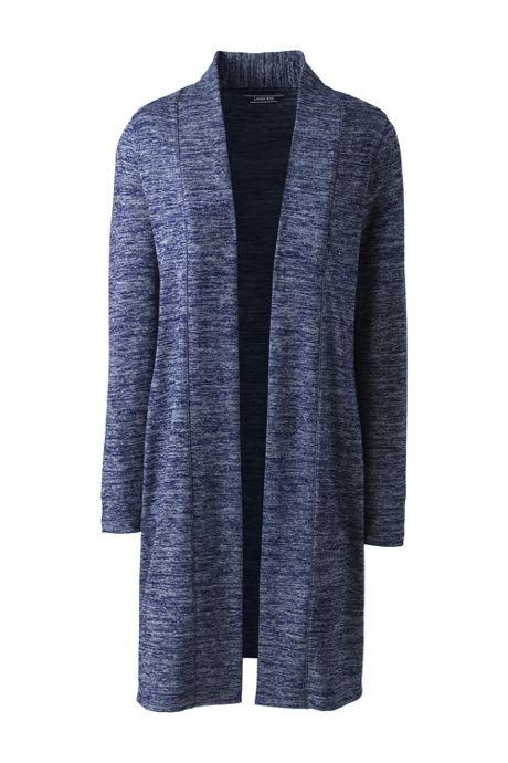 Women's Plus Size Long Sleeve Knit Duster Cardigan