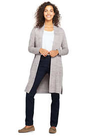 Women's Petite Long Sleeve Knit Duster Cardigan