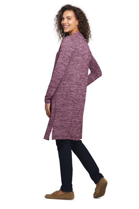 Women's Tall Long Sleeve Knit Duster Cardigan