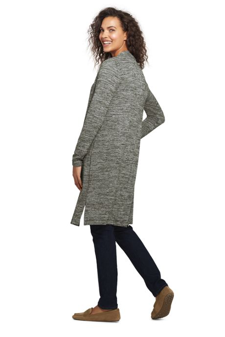 Women's Long Sleeve Knit Duster Cardigan