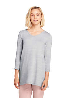 Women's 3/4 Sleeve Envelope Back Tunic, Front