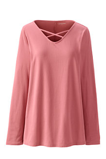 Women's Cotton/Modal Cross Front Tunic Top