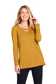 Women's Long Sleeve Cross Front Swing Tunic