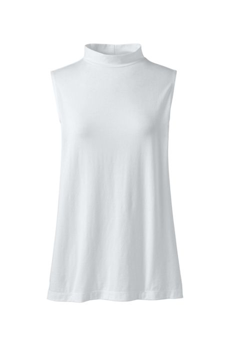 Women's Plus Size Sleeveless Mock Neck Top