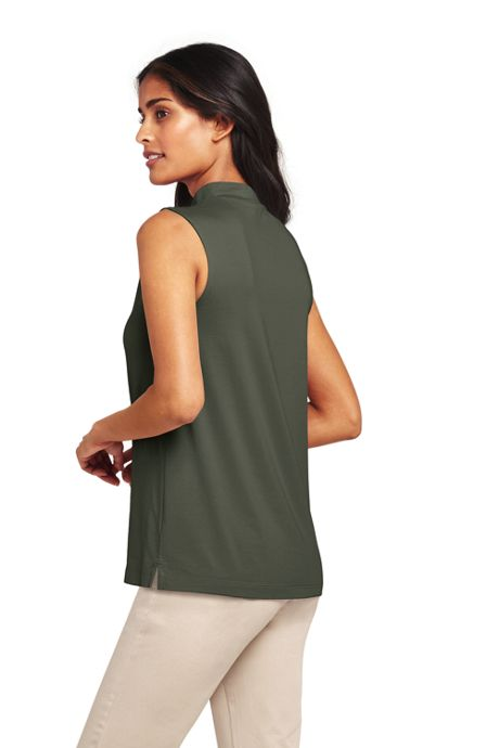 Women's Sleeveless Mock Neck Top