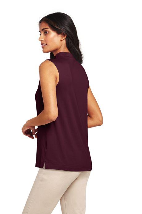 Women's Tall Sleeveless Mock Neck Top