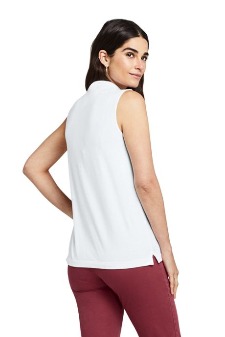 Women's Petite Sleeveless Mock Neck Top