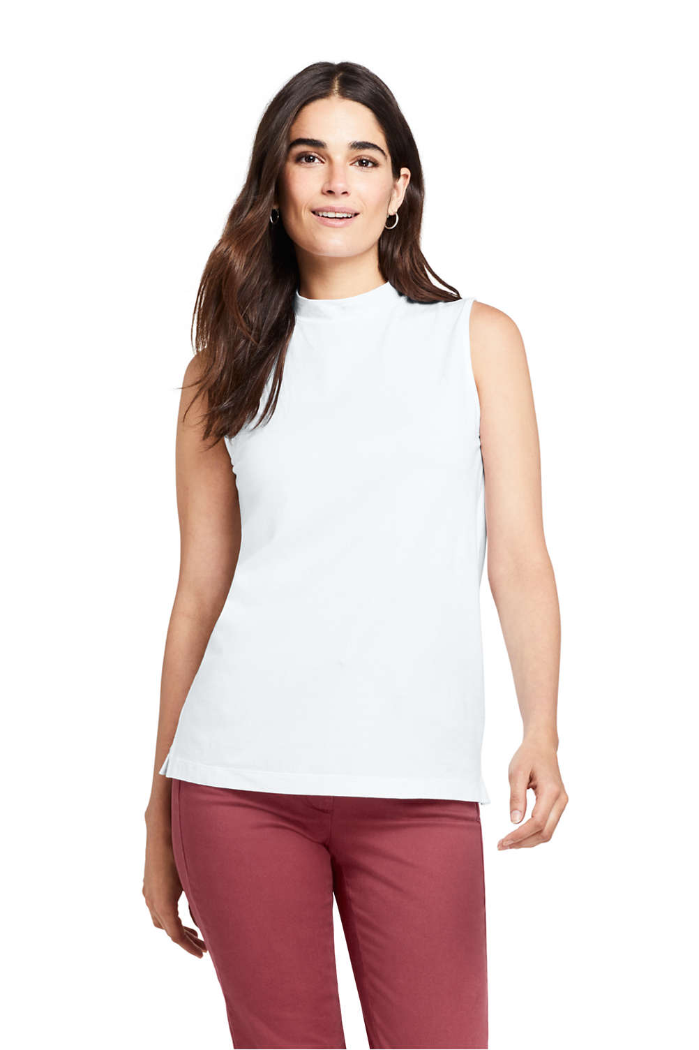 cdf48ad774771 Women's Sleeveless Mock Neck Top from Lands' End